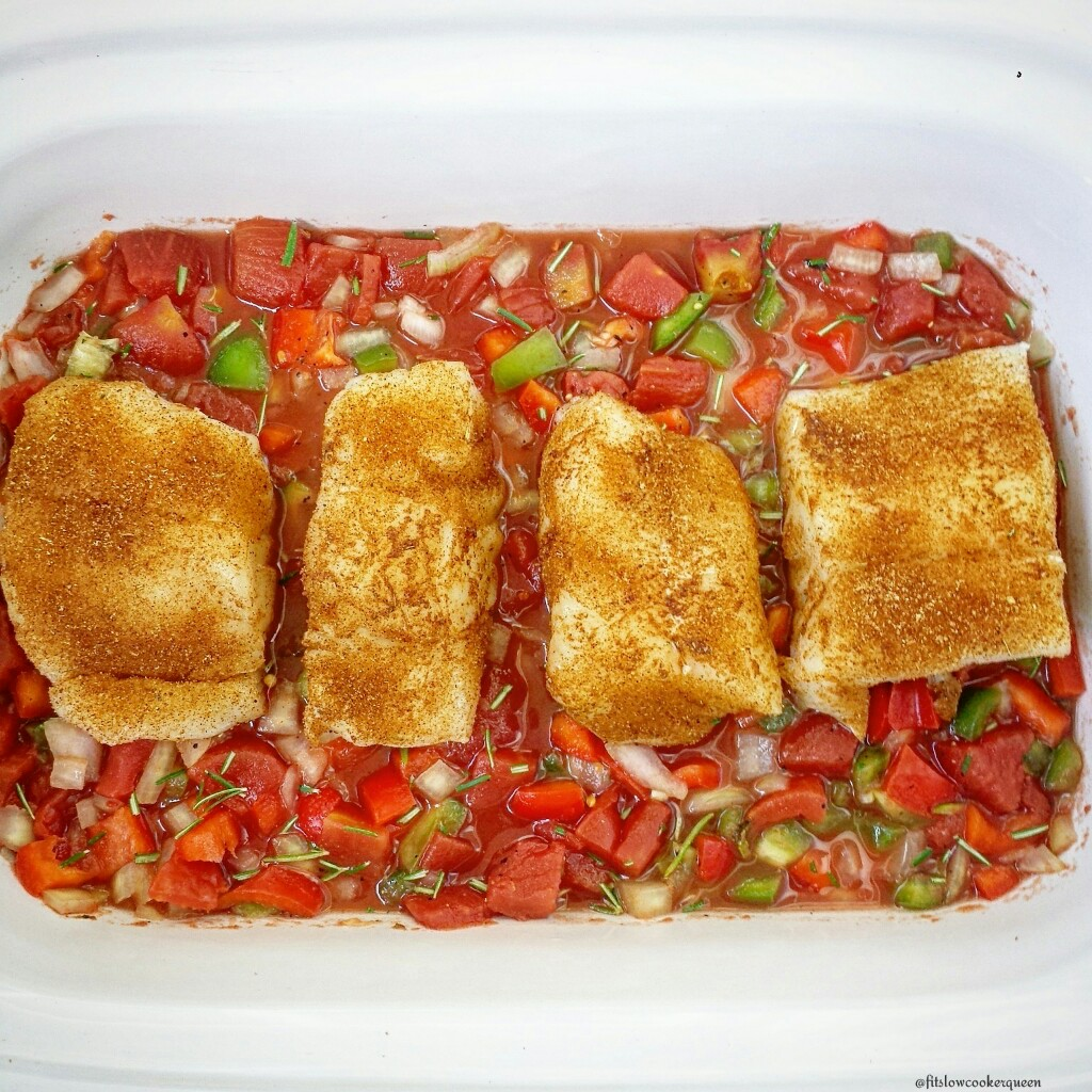 Slow Cooker Fish & Tomatoes