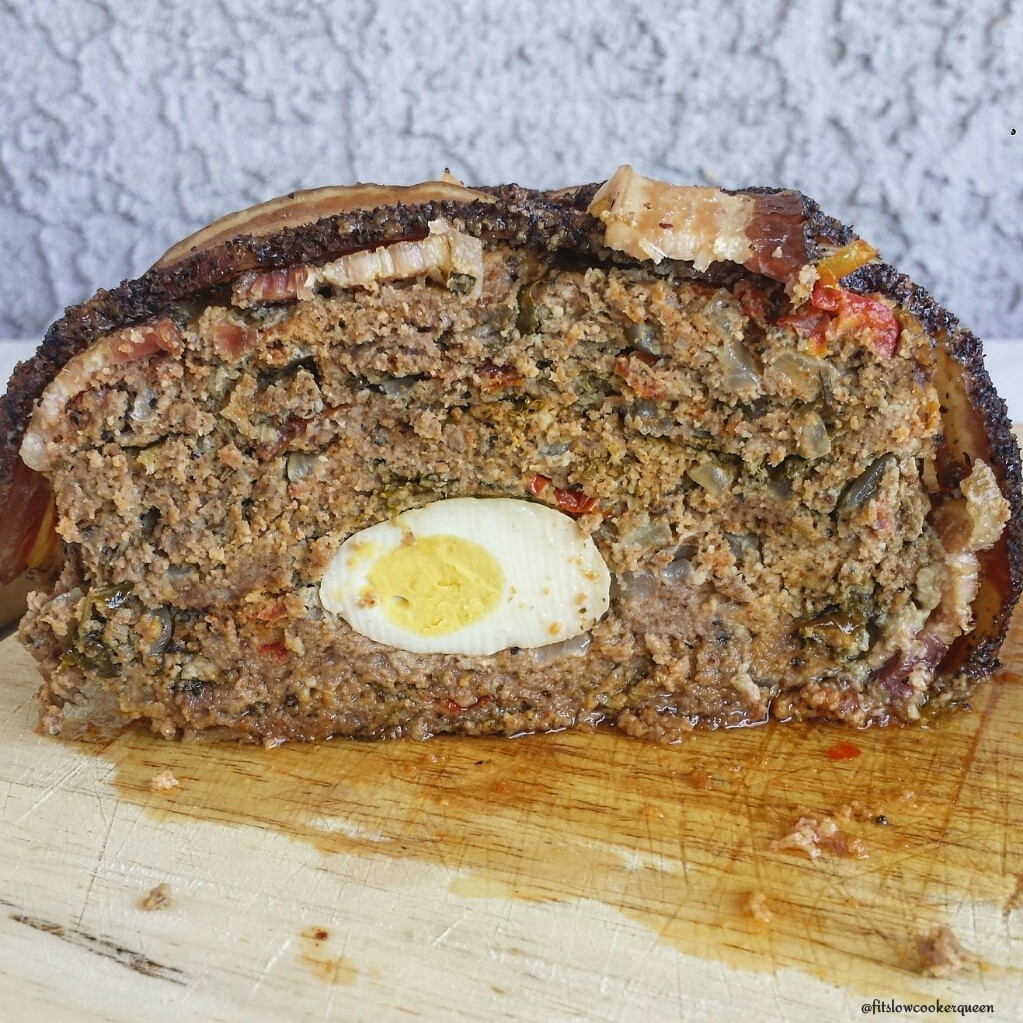 Slow Cooker Bacon Wrapped Meatloaf