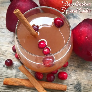 Slow Cooker Spiked Cider