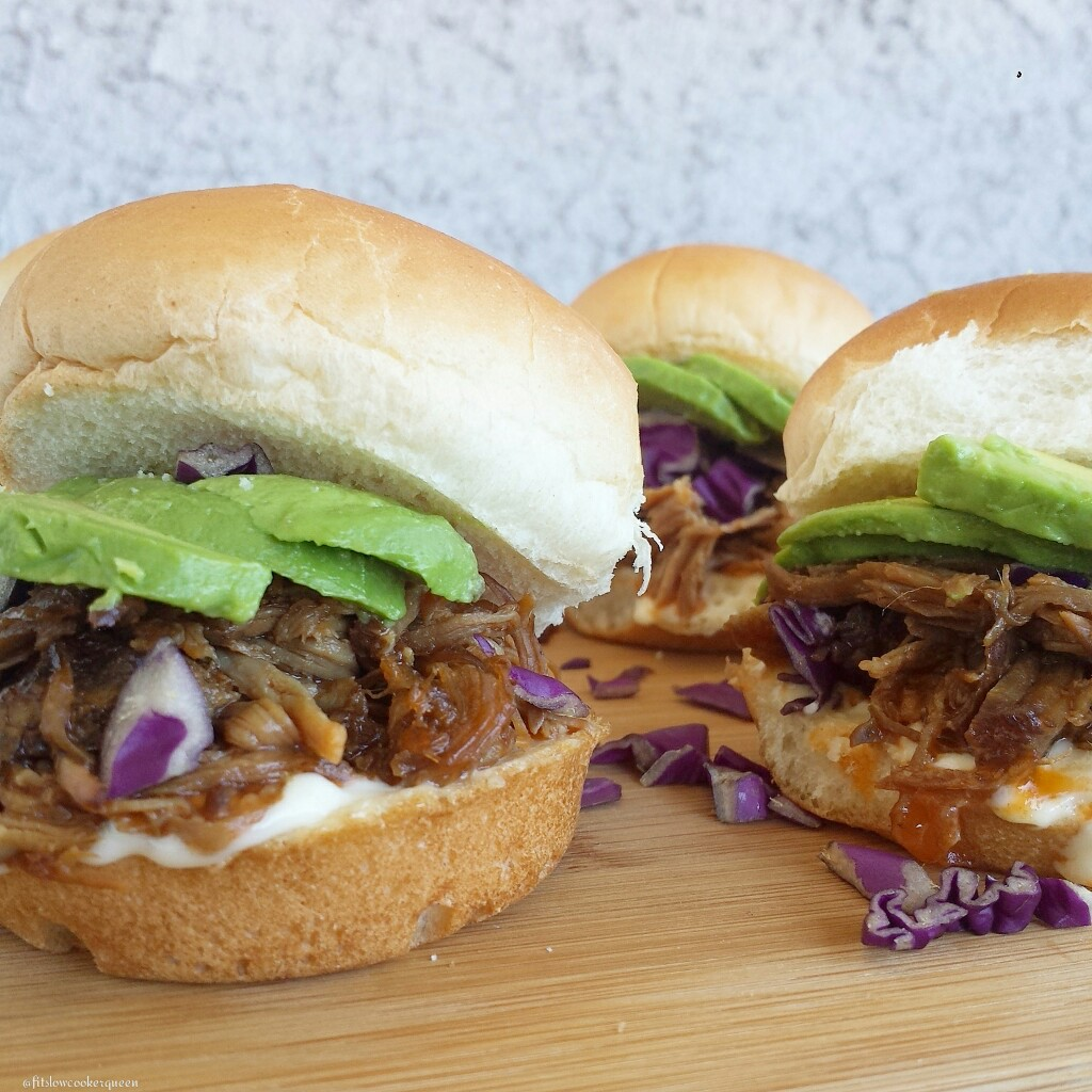 slow cooker hickory smokey bbq pulled pork sliders 1