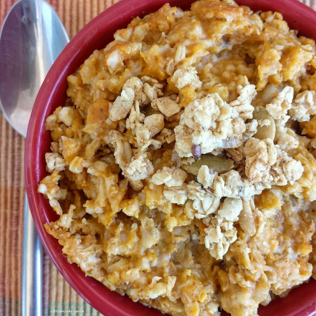 slow cooker pumpkin granola oatmeal 5