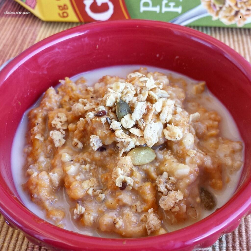 slow cooker pumpkin granola oatmeal 7