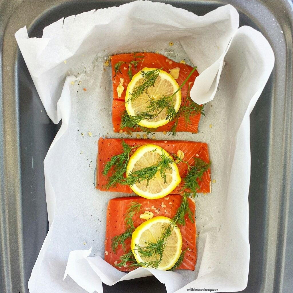 slow cooker salmon lemon dill 1