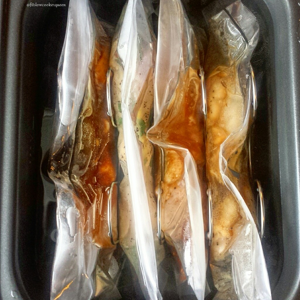 sous vide spiked chicken inside
