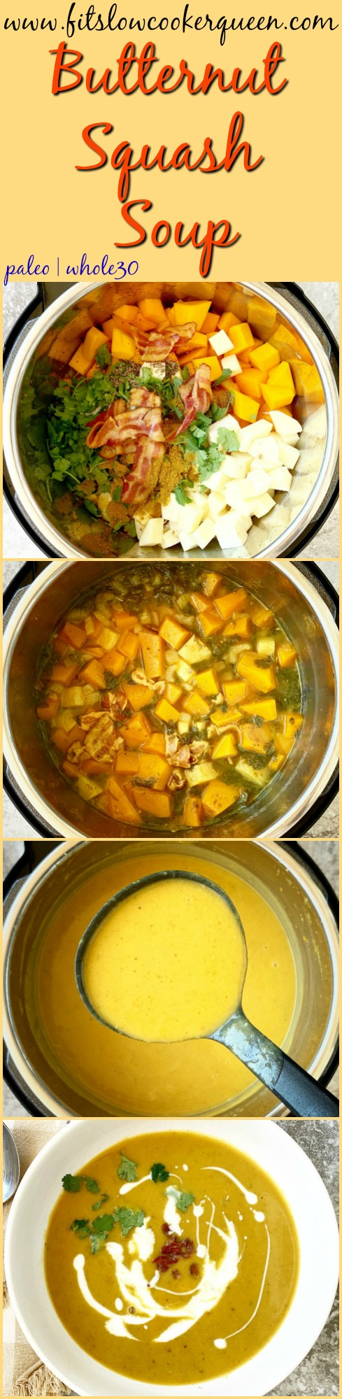 Another Pinterest pin for Slow Cooker_Instant Pot Butternut Squash Soup (Paleo,Whole30) pin1