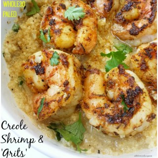 Creole Shrimp and 'Grits' (Whole30, Paleo)