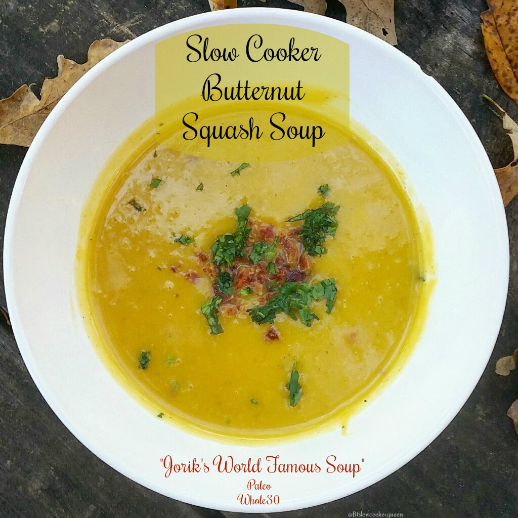 This butternut squash soup slow cooker recipe is both paleo and whole 30 friendly. Sit back and enjoy the aroma of this healthy comfort food.