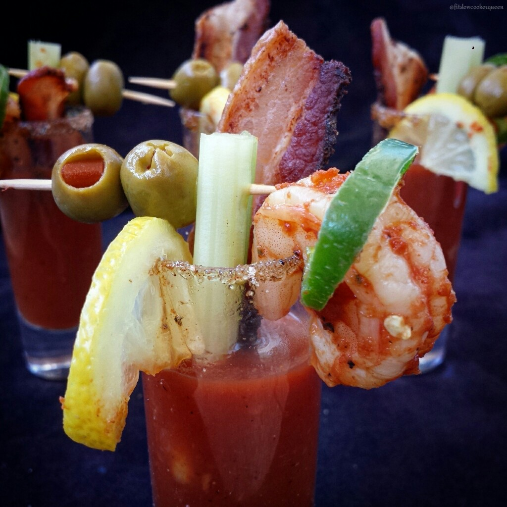 slow cooker spicy bloody mary shooters 1