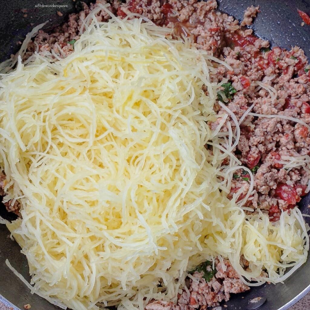 spaghetti squash meat herbs 2