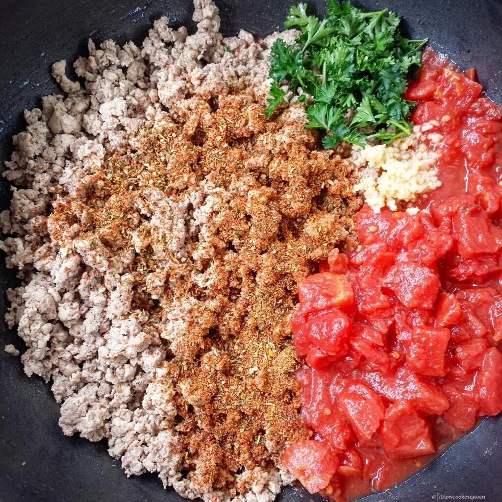 spaghetti squash meat herbs
