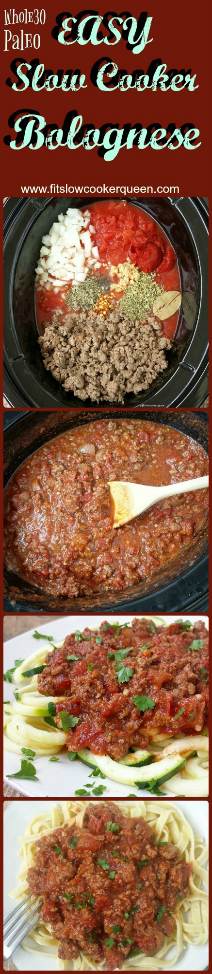 slow cooker bolognese pin