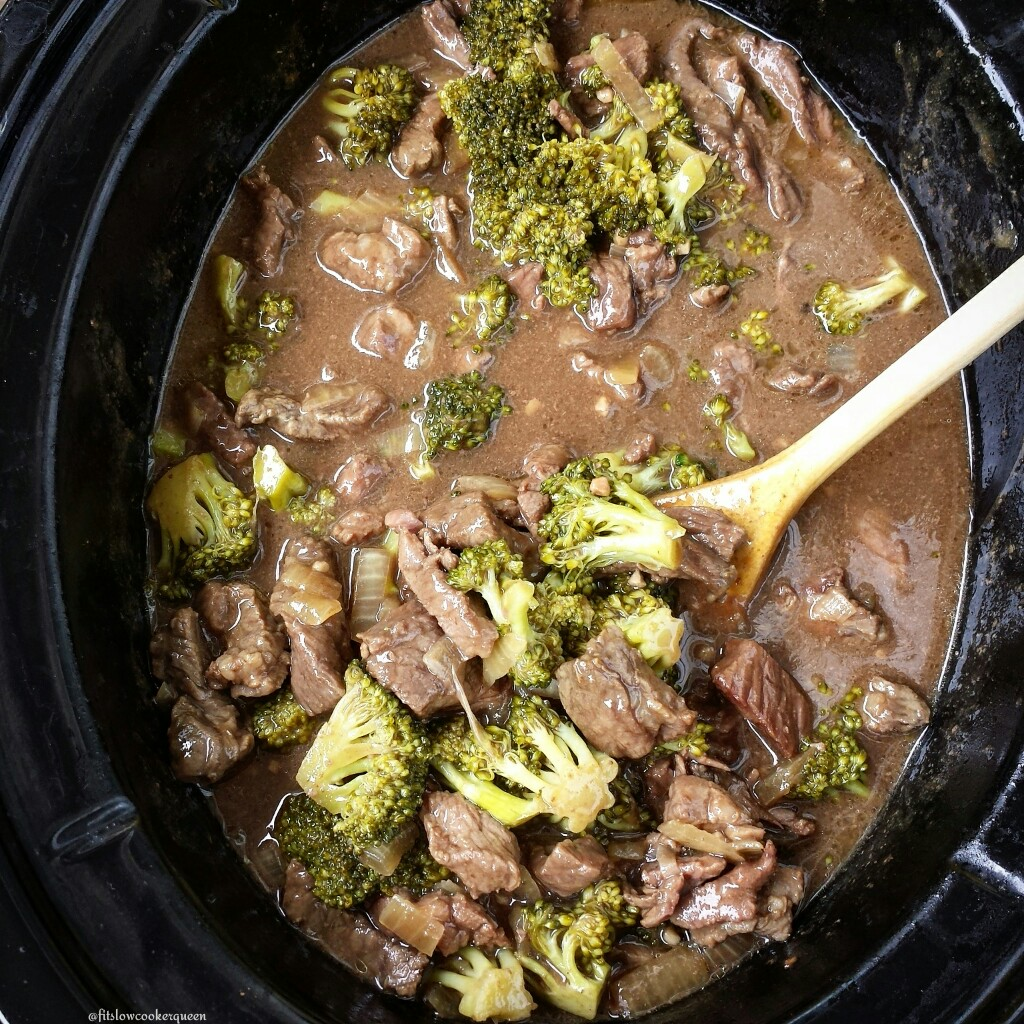 This healthy beef & broccoli recipe is not only whole30 and paleo but super easy to make. Rather than take-out, let your slow cooker do the work.