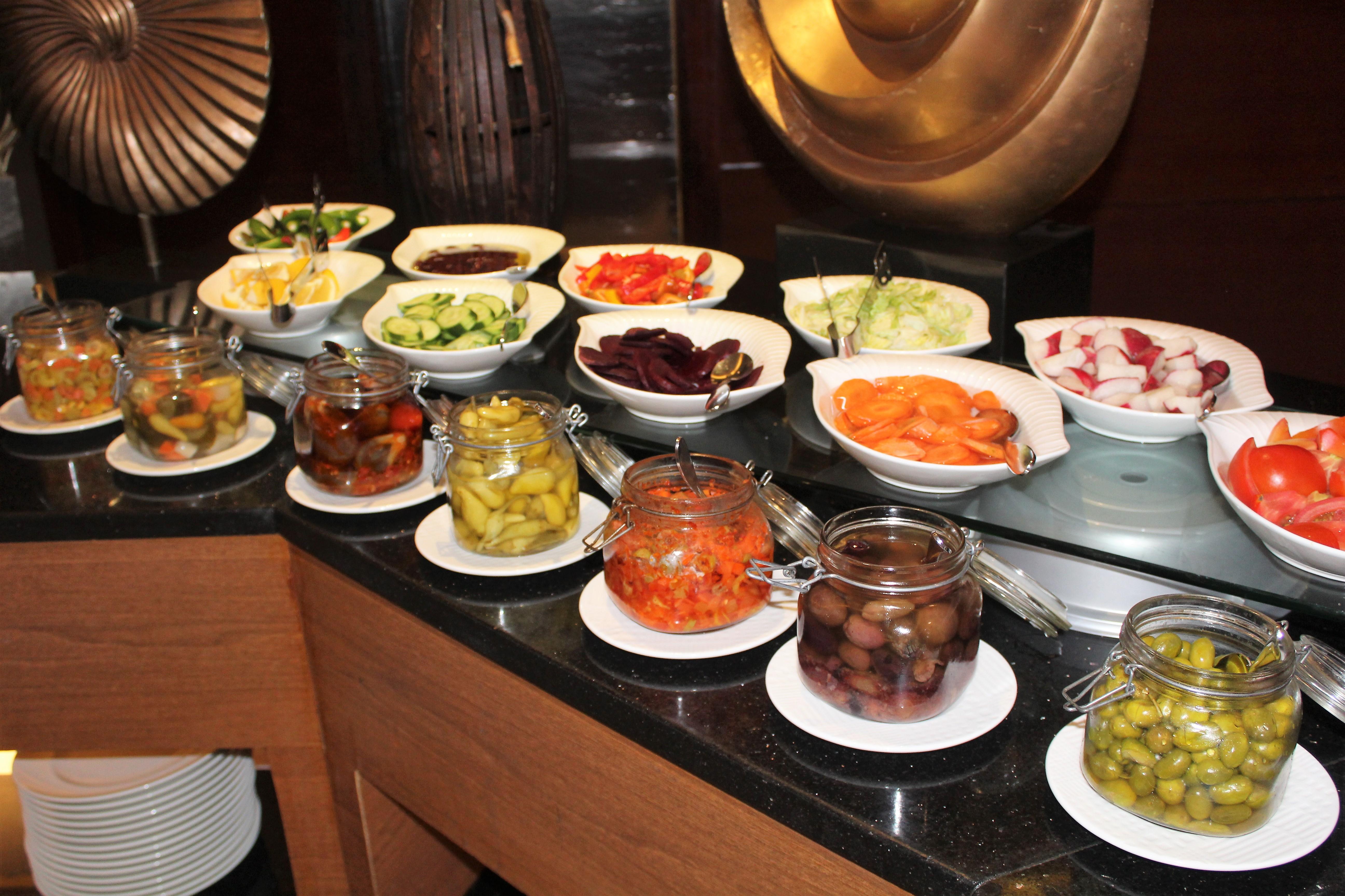 Dinner buffet at the Hilton Doubletree Aqaba Jordan.