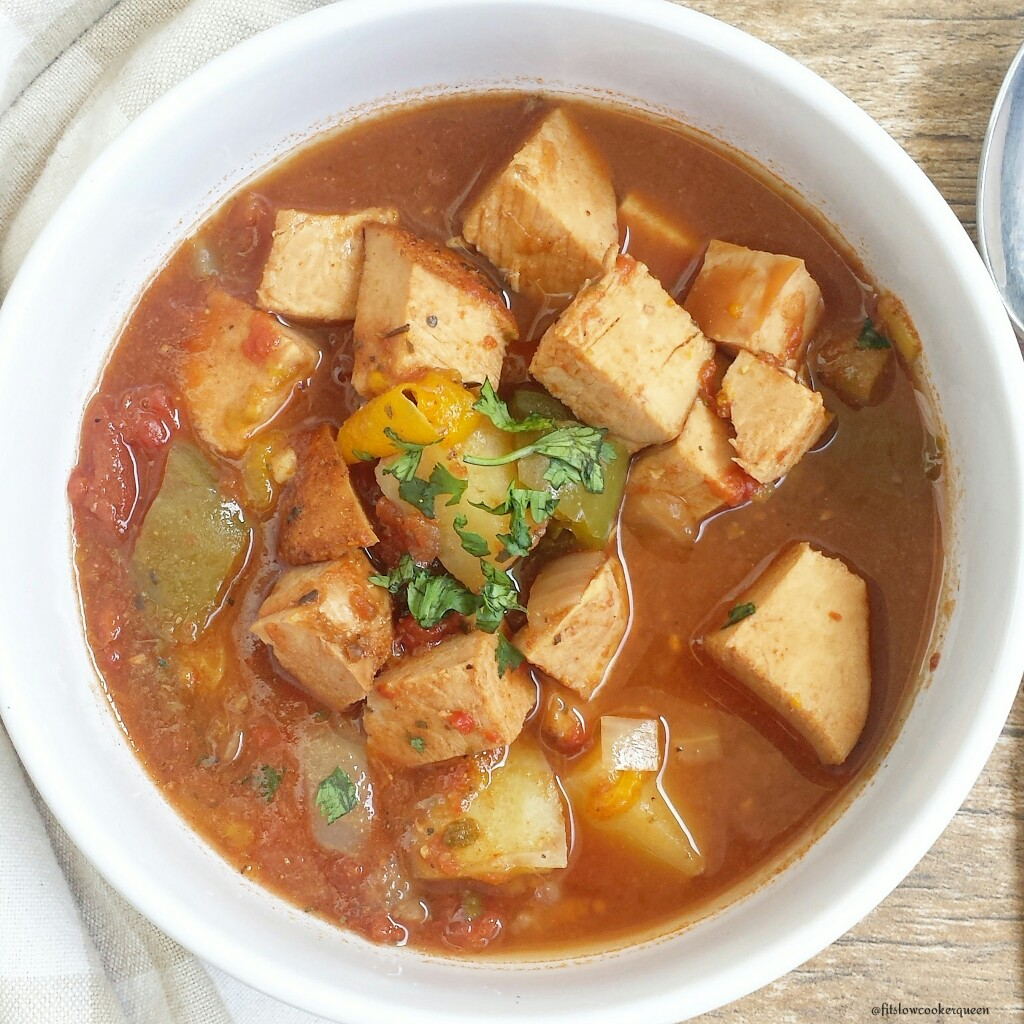 Cajun turkey breast along with peppers, potatoes, and simple seasonings are all you need for this healthy one-pot slow cooker recipe.
