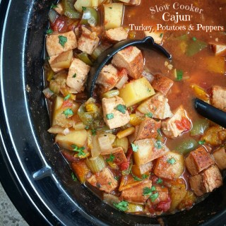 Slow Cooker Cajun Turkey, Potatoes & Peppers (Paleo, Whole30)