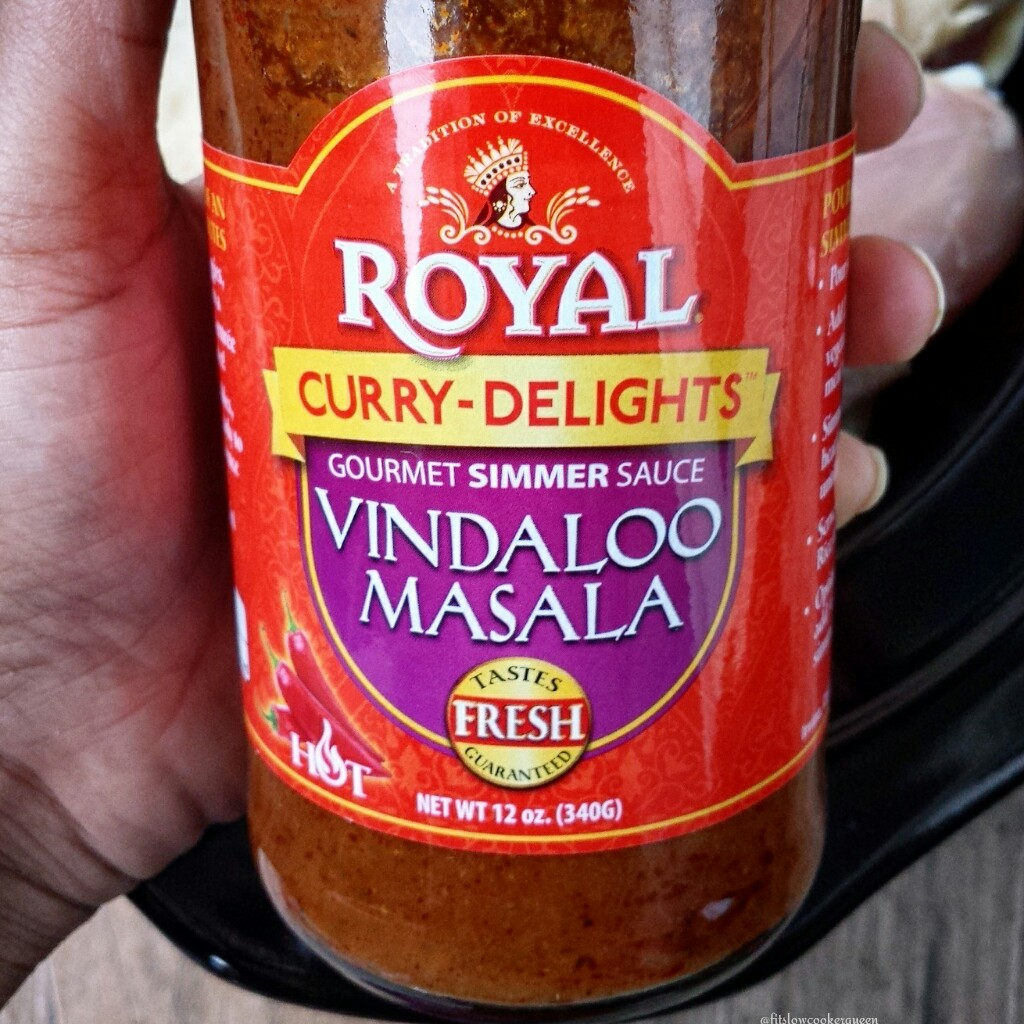 Store-bought Indian sauces usually contain all-natural ingredients. This vindaloo masala sauce is the perfect base for a healthy slow cooker recipe.