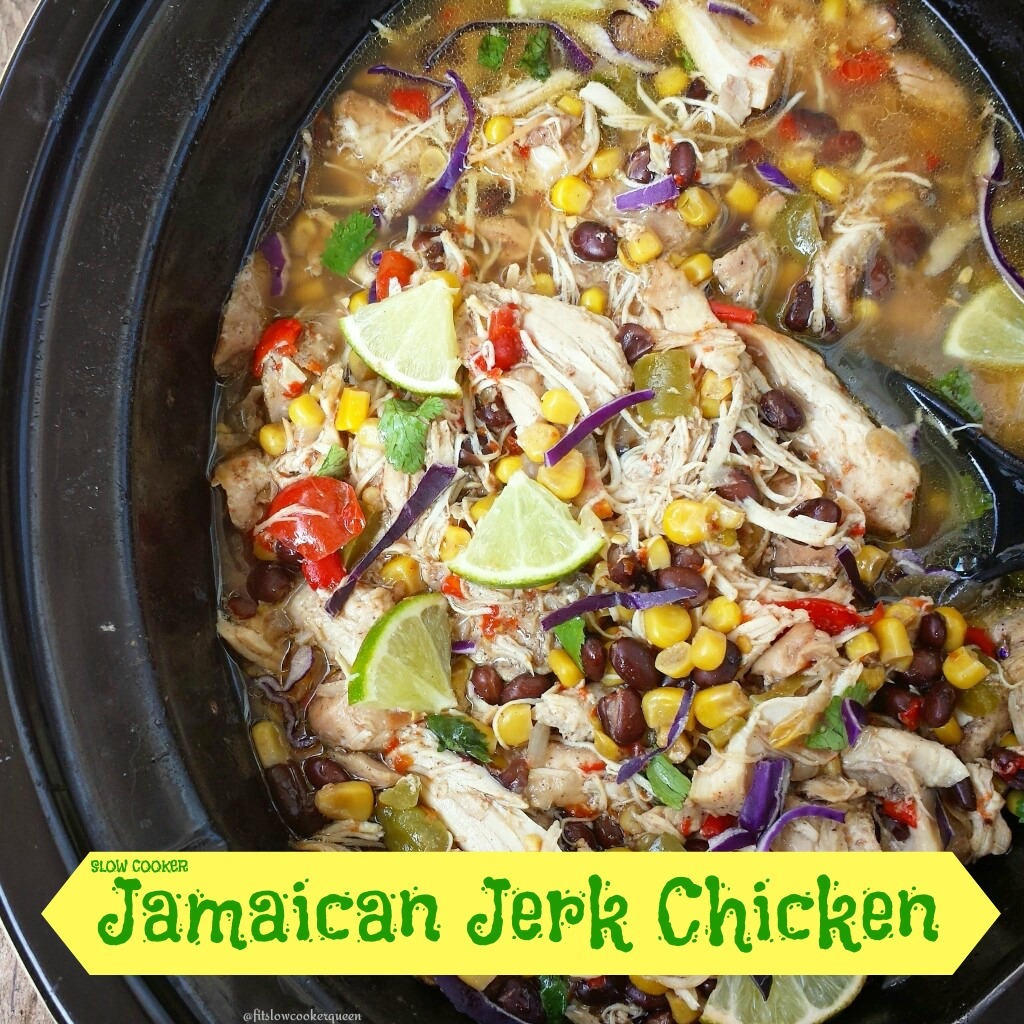 Your favorite Caribbean flavors are combined in the slow cooker for this easy and healthy Jamaican jerk chicken one-pot meal.