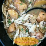 Chicken, apples & honey, and potatoes slow cook together in this one-pot meal. This sweet and tangy paleo recipe is perfect for Rosh Hashanah or anytime!