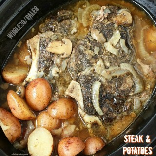 Slow Cooker Steak & Potatoes (Whole30, Paleo)