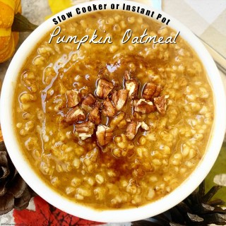 {VIDEO} Slow Cooker/Instant Pot Pumpkin Oatmeal (Vegan)