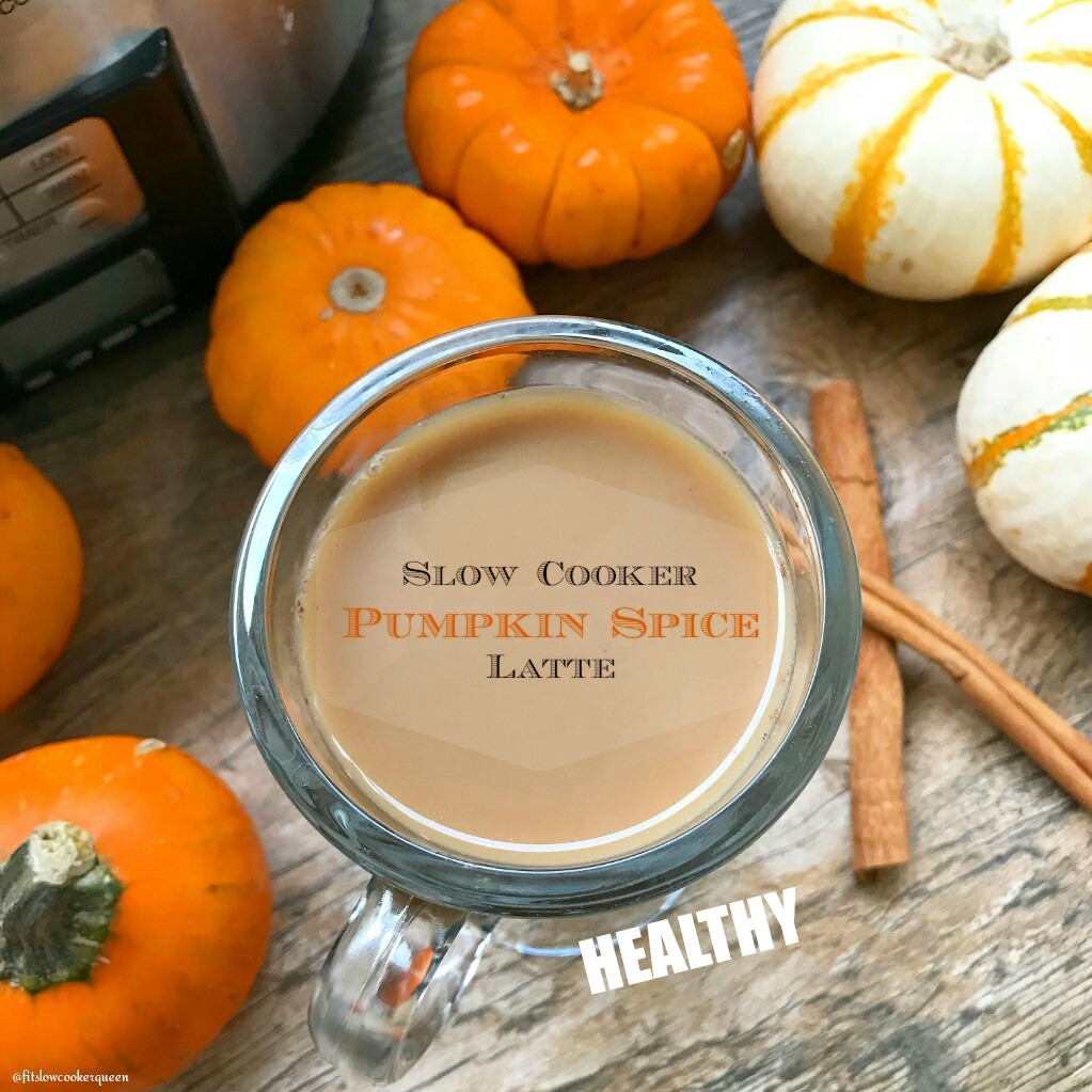 This pumpkin spice latte is not only made in the slow cooker, there's no added sugar! So good and easy, there's no need to buy store-bought again.