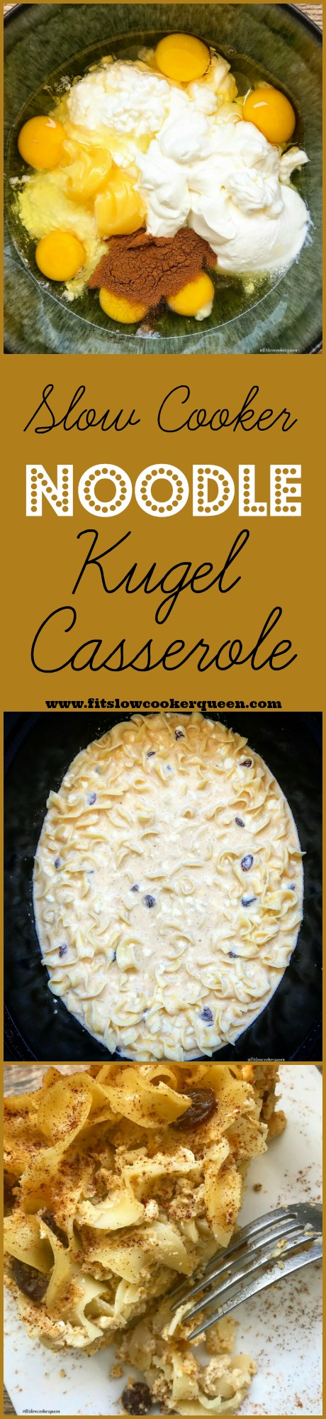 Kugel is a sweet or savory casserole that's the perfect side dish to any holiday dinner. Plus it cooks in the slow cooker freeing up your oven.