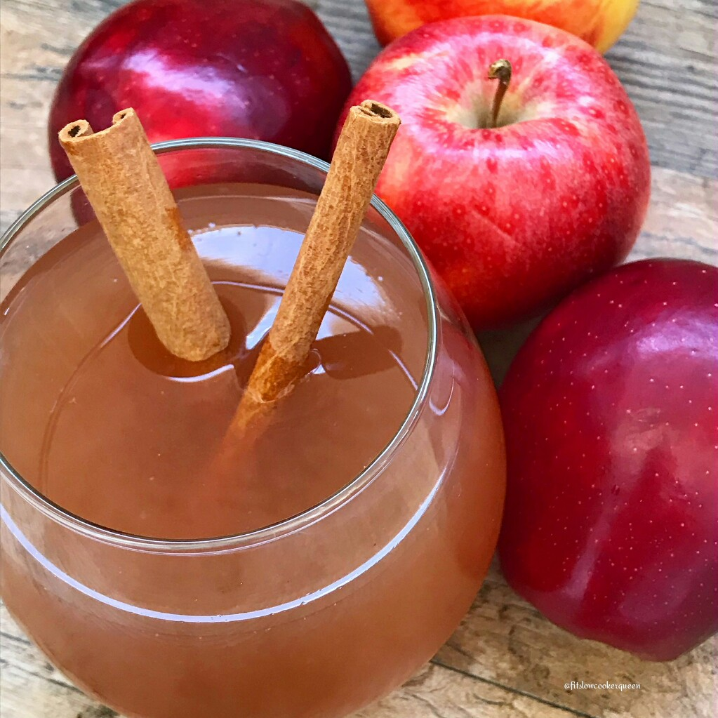 Nothing better than a homemade apple cider for fall and winter weather. This easy and healthy slow cooker version uses all natural-ingredients.