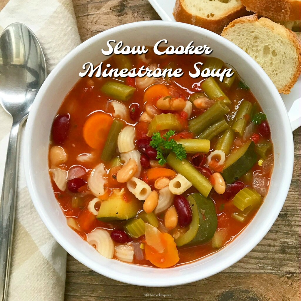 Slow Cooker Minestrone Soup Gluten Free Fit Slow Cooker Queen
