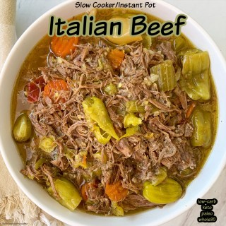 cover pic for {VIDEO} Slow CookerInstant Pot Italian Beef (Low-Carb, Paleo, Whole30)