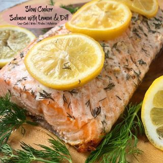 Cooking salmon in the slow cooker produces perfectly cooked salmon with minimal effort. Using just a few ingredients, this low-carb, paleo, and whole30 recipe is not only healthy but easy too.