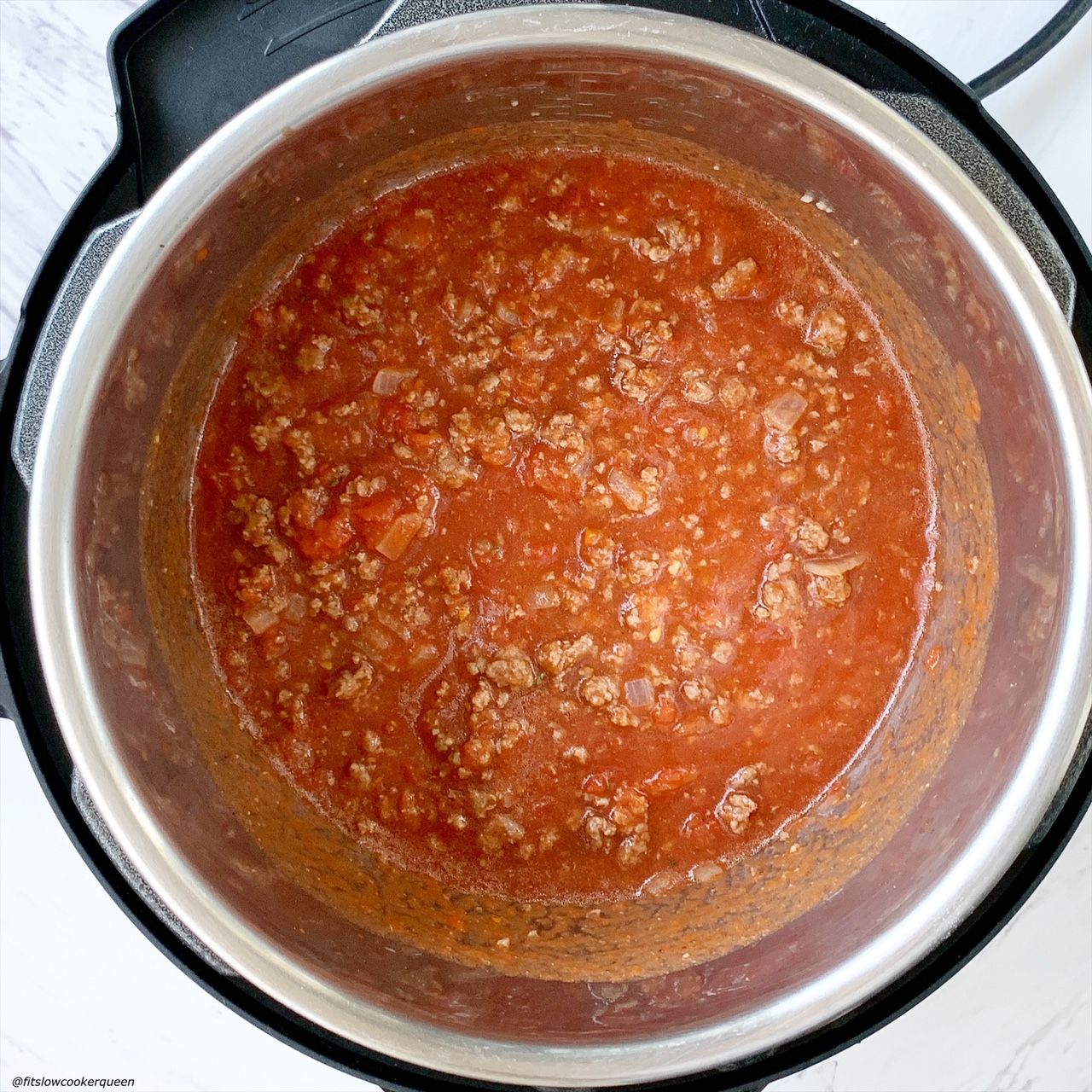 before pic of Unstuffed Cabbage Rolls (Low-Carb, Paleo, Whole30) in the electric pressure cooker