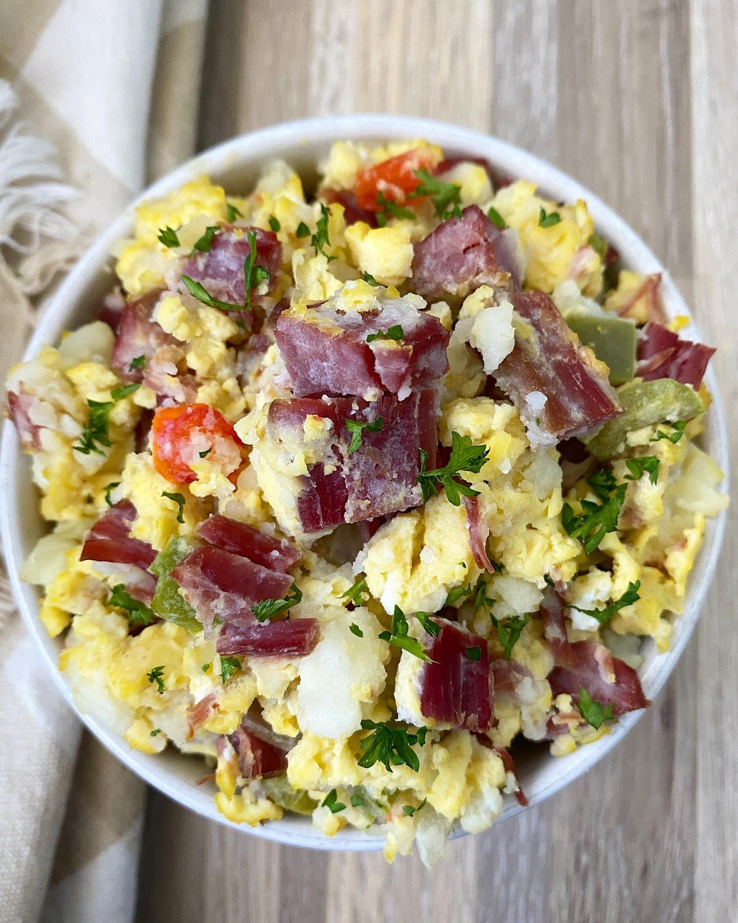 Slow Cooker Instant Pot Corned Beef Hash Breakfast Casserole (Low-Carb, Paleo, Whole30)