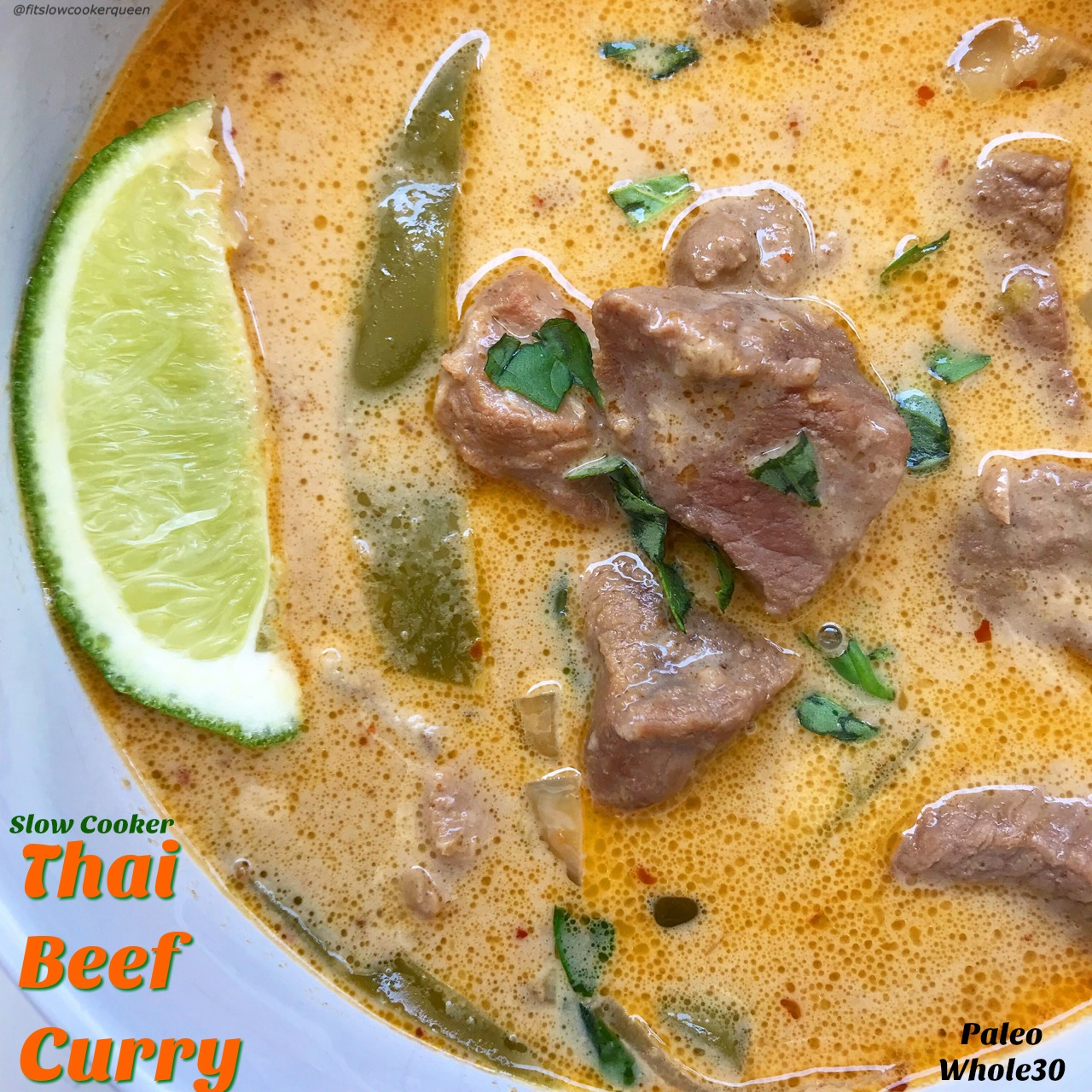This easy Thai beef curry recipe is all about the healthy, homemade coconut-curry sauce. It's low-sodium, vegan, paleo, whole30, etc. Just add protein, vegetables of your choice, and let your slow cooker do the work.