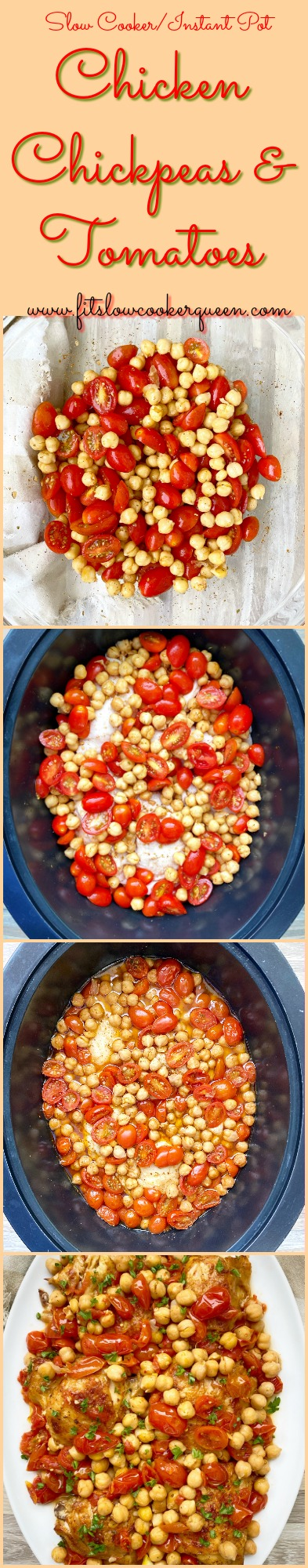 another pinterest pin for cover pic for {VIDEO} Slow CookerInstant Pot Chicken, Chickpeas & Tomatoes