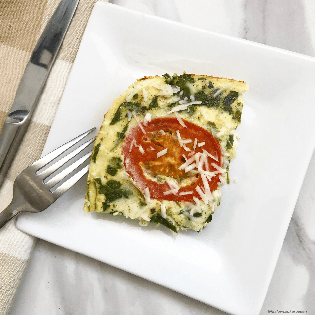 An egg white frittata is a great low-sodium, low-calorie, and low-carb breakfast or brunch option. Load this frittata up with your favorite vegetables and cook it overnight in the slow cooker to wake up to an easy & healthy vegetarian breakfast.