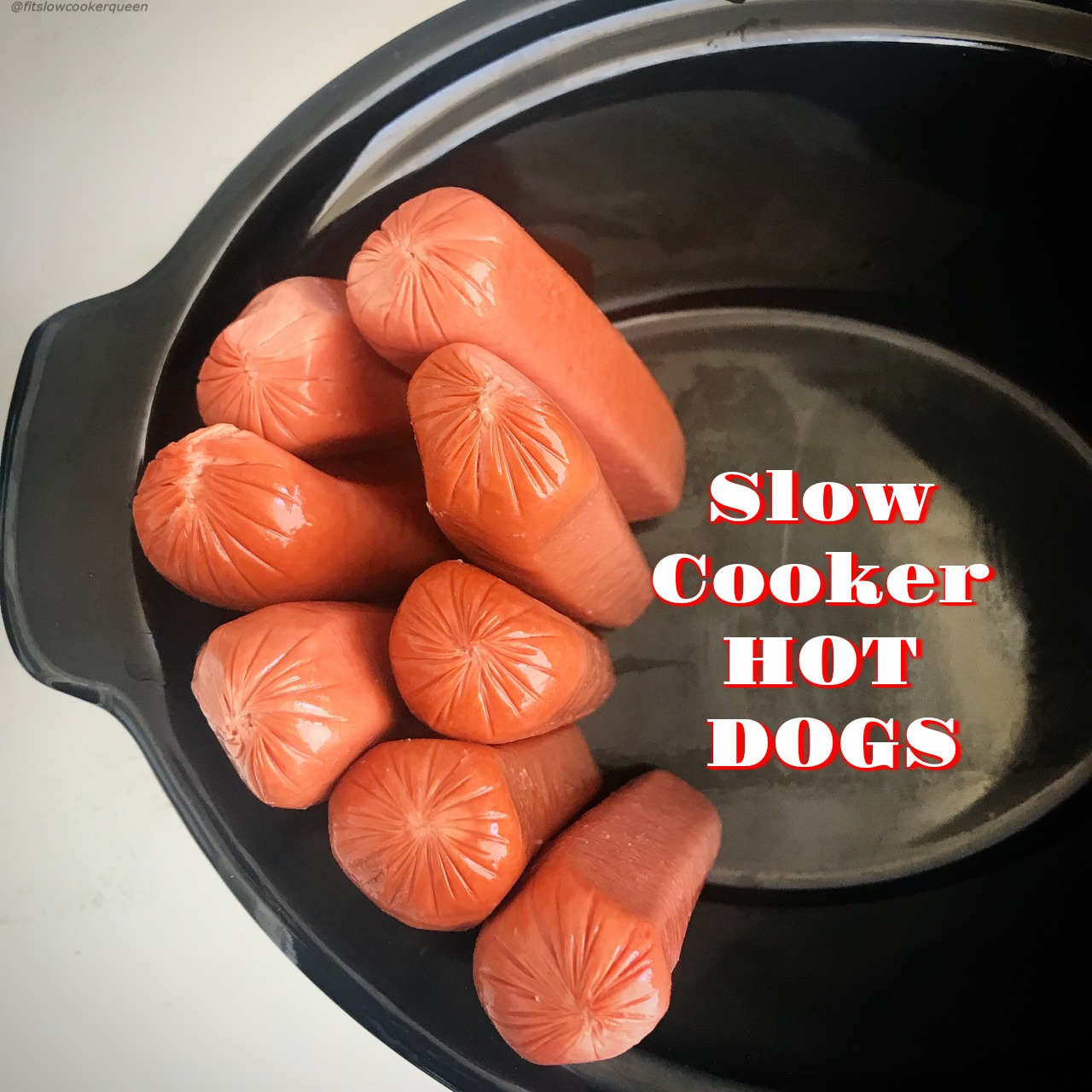 If you love steamed, 'ballpark' style hot dogs then throw them in your slow cooker! Perfect for feeding a crowd, this 1-ingredient recipe couldn't get any easier.