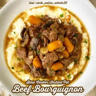 cover pic for Slow Cooker Instant Pot Beef Bourguignon (Paleo,Whole30)