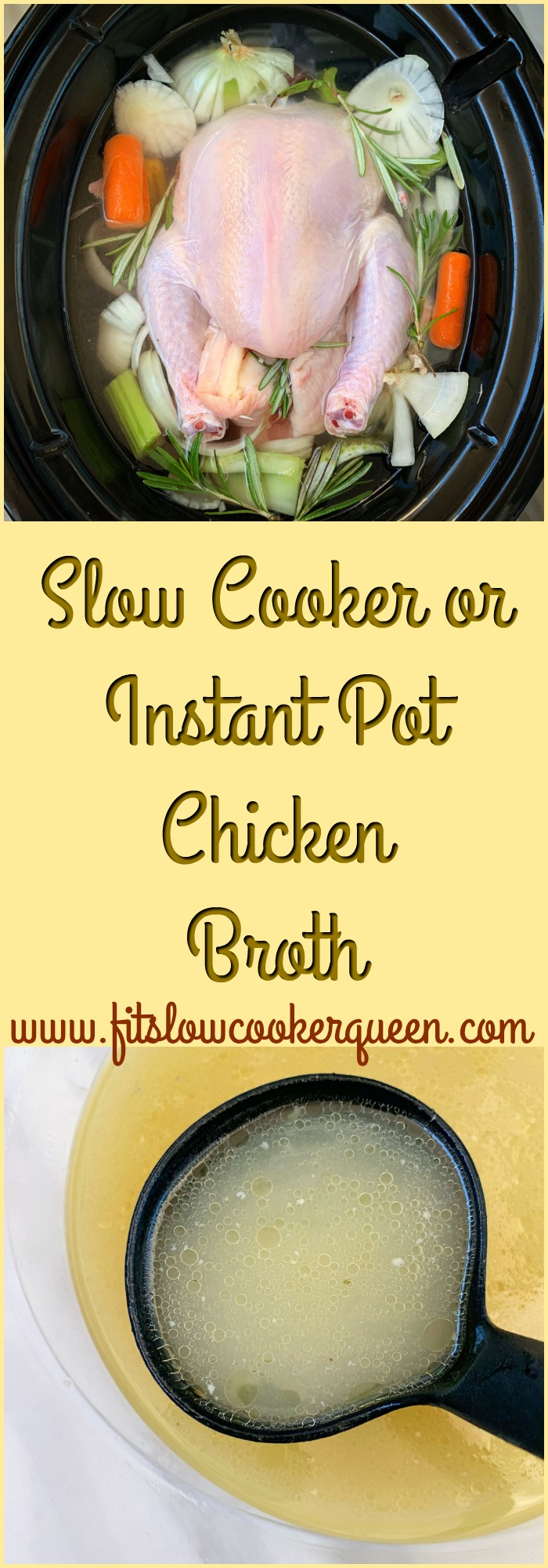 Slow Cooker/Instant Pot Chicken Broth