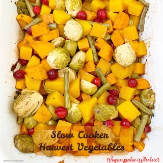Slow Cooker Harvest Vegetables (Vegan,Paleo/Whole30)