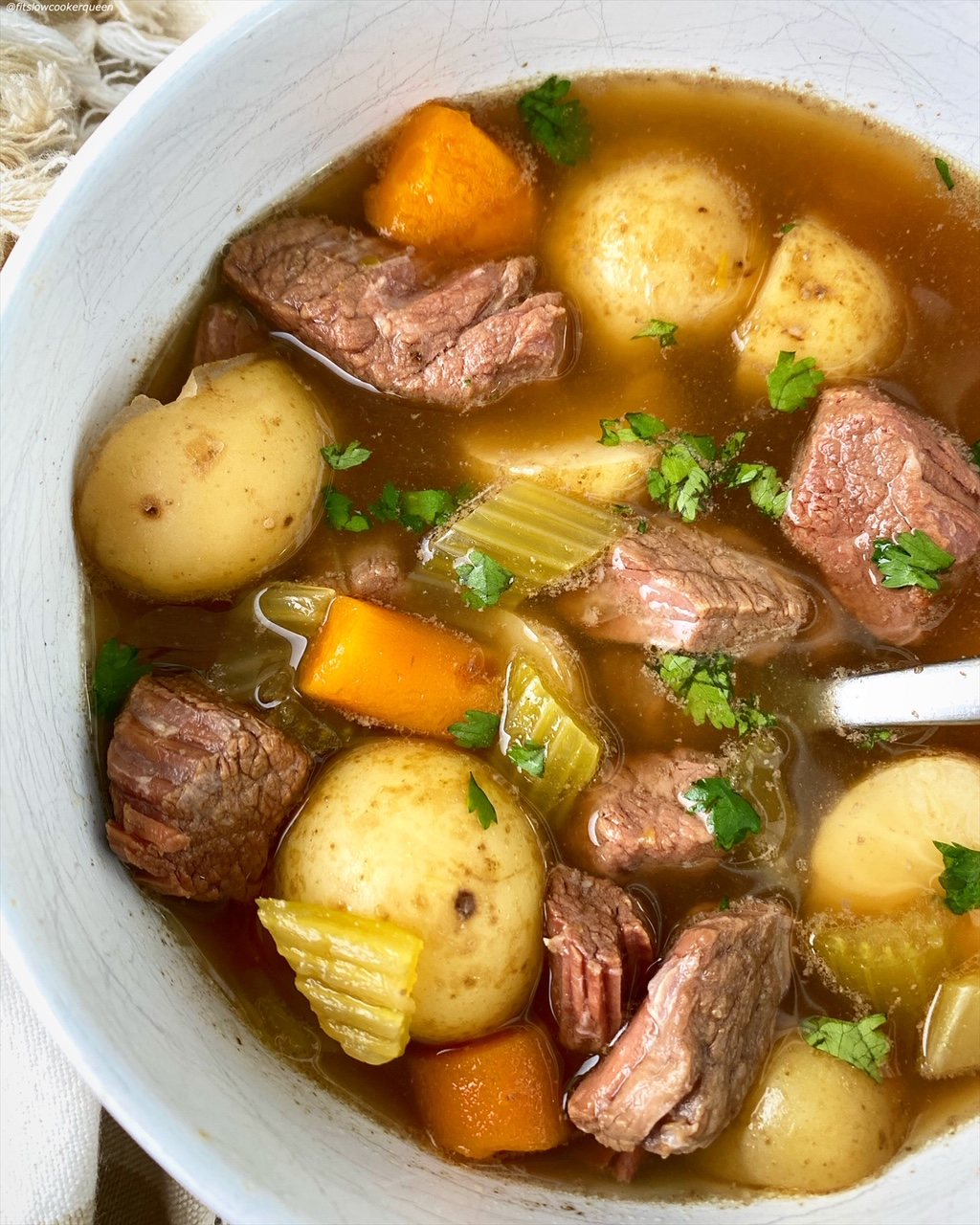 another pot roast soup in a bowl