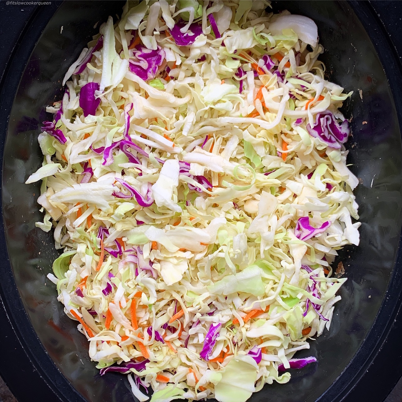 Crack slaw combines ground meat & coleslaw for an easy low-carb, paleo, and whole30  meal. Make this easy & healthy recipe in your slow cooker or Instant Pot.