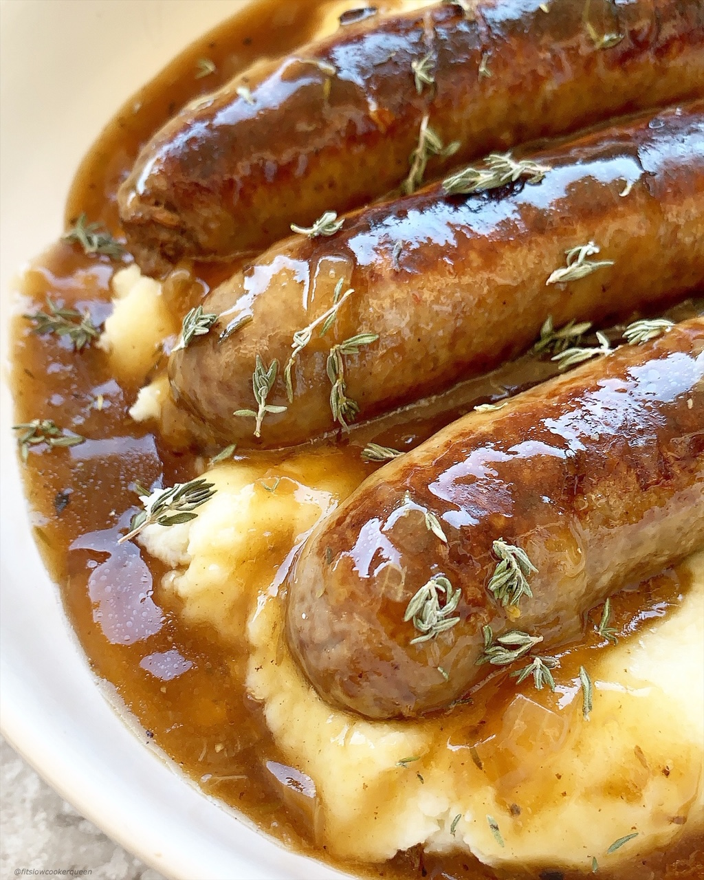 Slow CookerInstant Pot Bangers & Mash (Low-Carb, Paleo, Whole30)