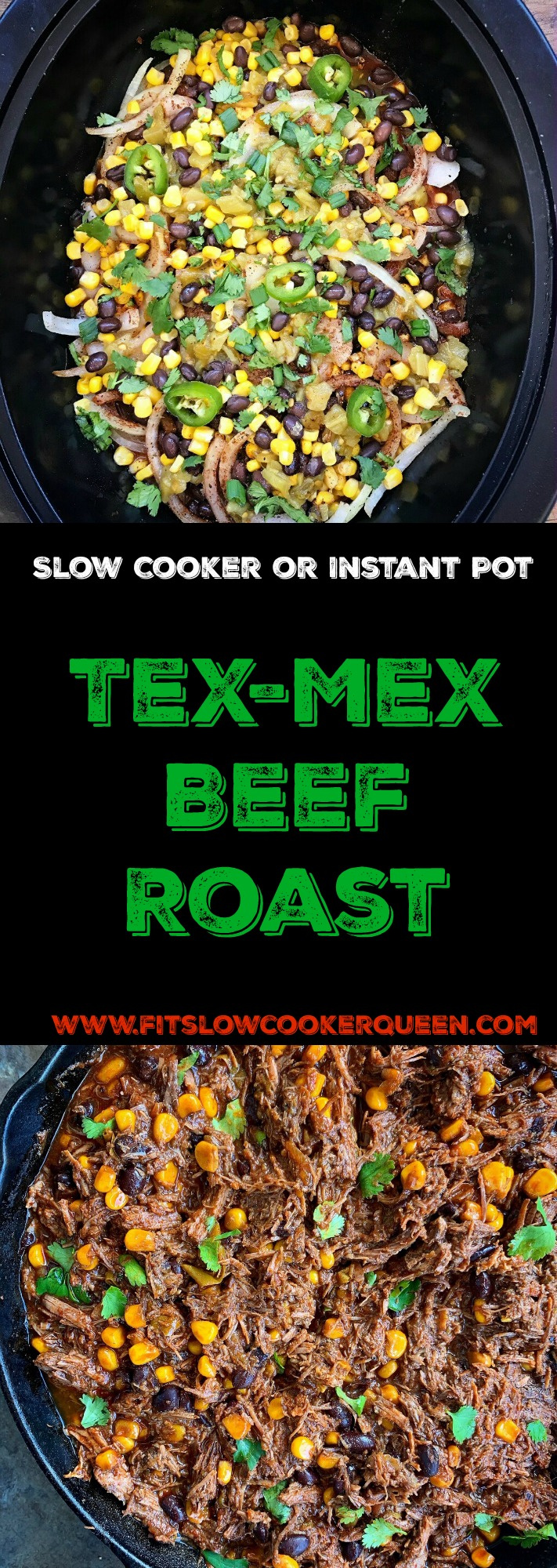 Tex-Mex beef will turn your next dinner into a fiesta! Cooked in the slow cooker or Instant Pot, you can use this versatile beef in a variety of recipes.