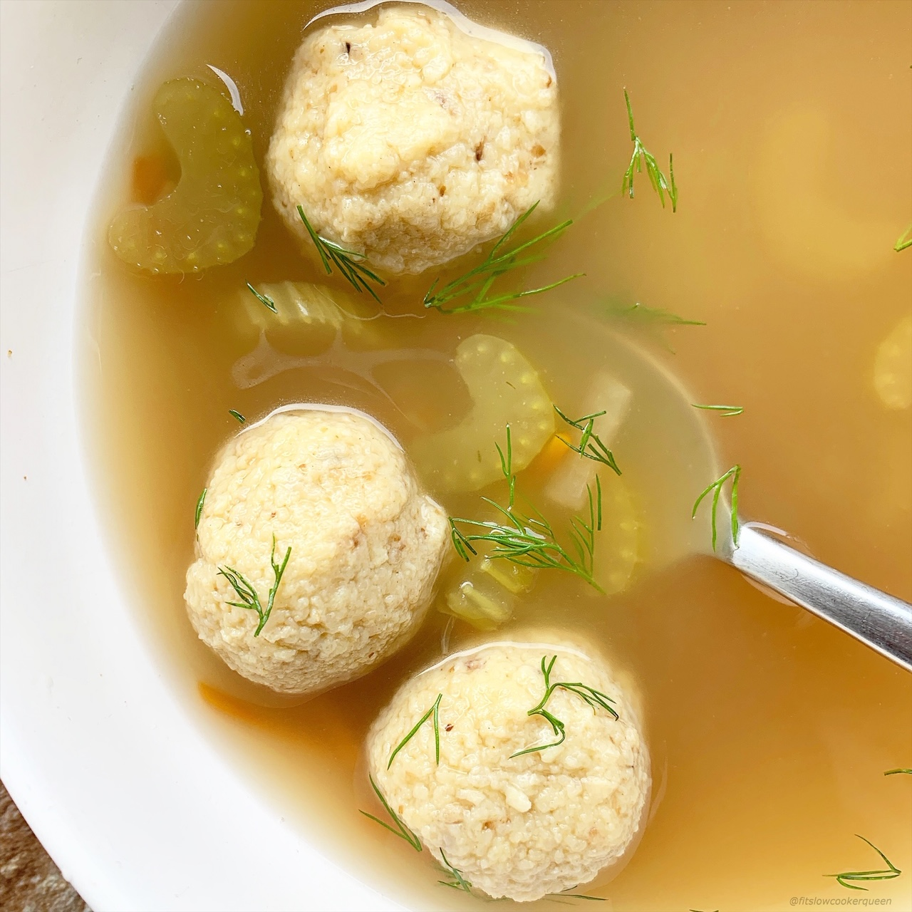 Matzo ball soup is a simple soup made from matzo meal, eggs, fat/oil, and water. Make this comforting soup in your slow cooker or Instant Pot.