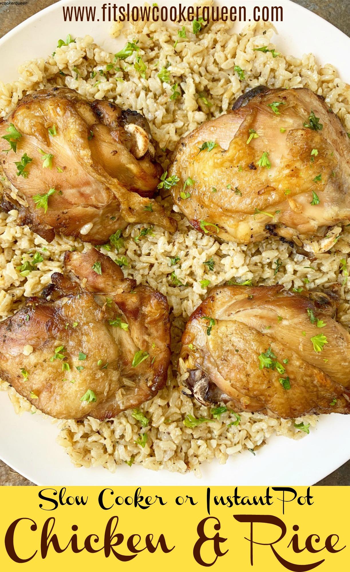 {VIDEO} Slow CookerInstant Pot Chicken & Rice (5)