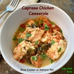 cover pic for caprese chicken casserole