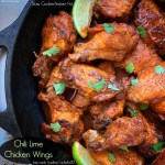 cover pic for {VIDEO} Slow Cooker Chili Lime Chicken Wings (Low-Carb, Paleo, Whole30)