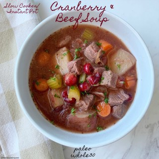 cover pic for {VIDEO} Slow CookerInstant Pot Cranberry & Beef Soup (Paleo,Whole30) (3)