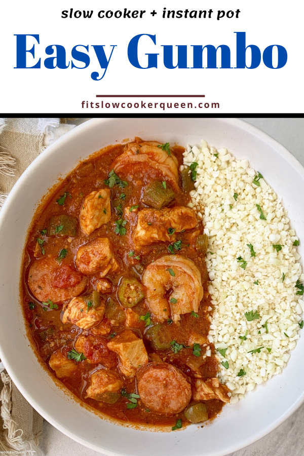 {VIDEO} Slow Cooker/Instant Pot Gumbo (Low-Carb, Paleo, Whole30)