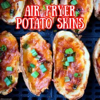 Homemade Air Fryer Potato Skins